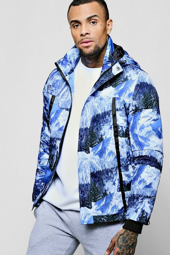 Mountain Scene Quilted Jacket