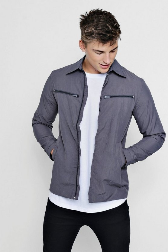 Zip Detail Harrington Jacket