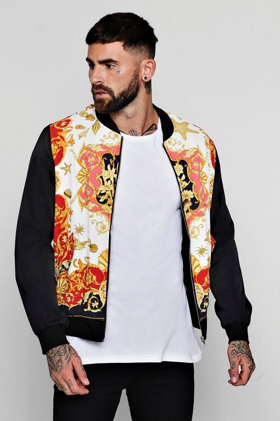 Baroque Sateen Bomber