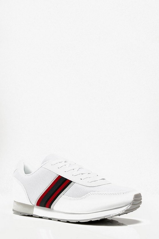 Stripe Tape Retro Trainer