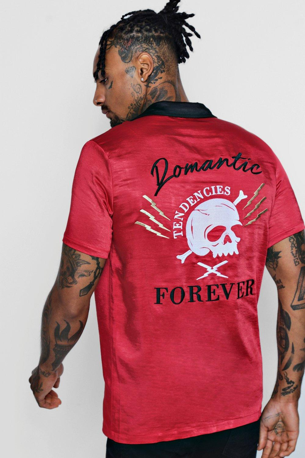 Skull Embroidered Revere Shirt