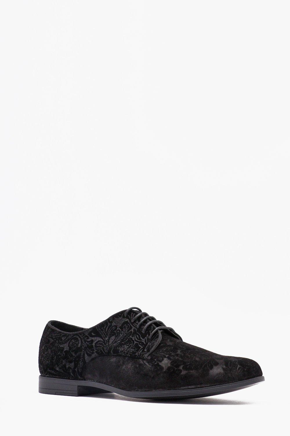 Baroque Velvet Lace Up Shoe