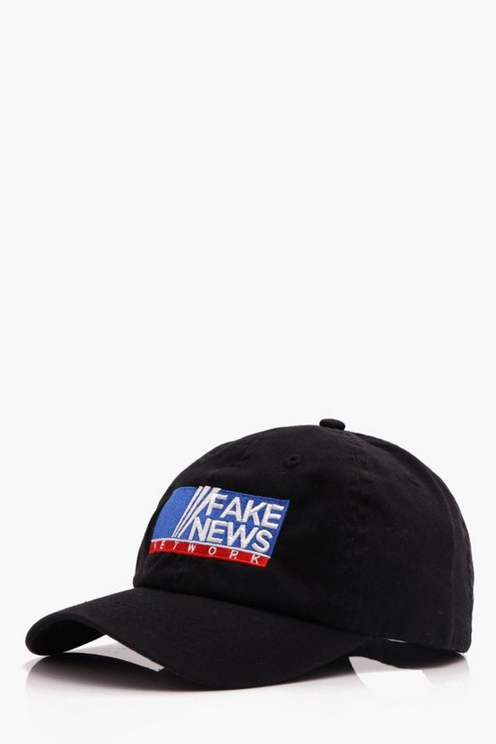 Fake News Embroidered Cap