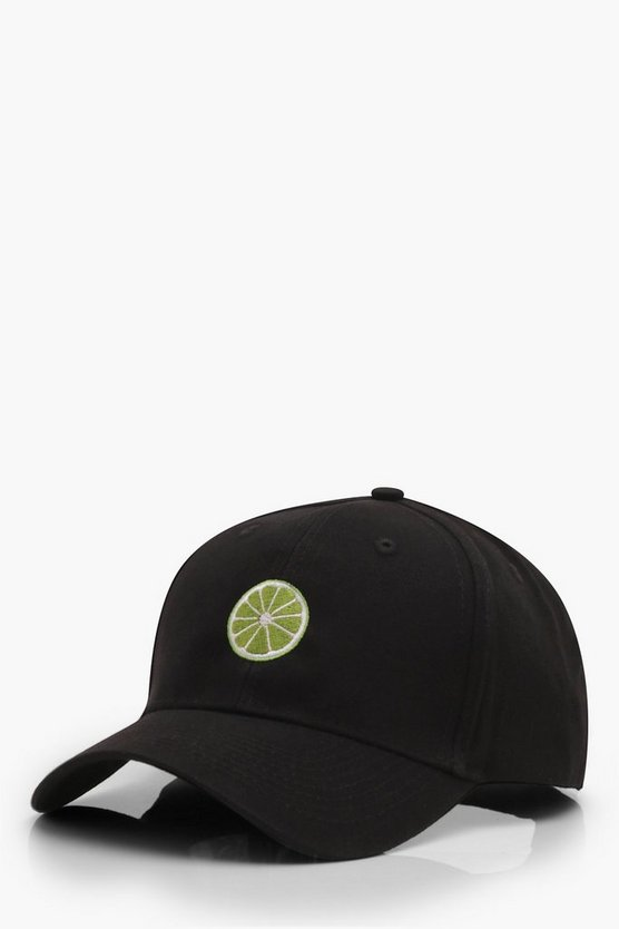 Lime Embroidered Cap