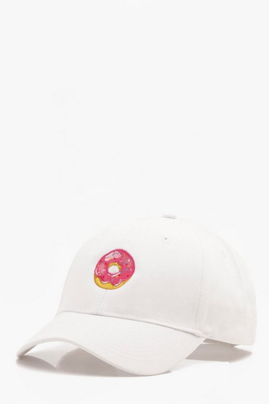 Donut Embroidered Enzyme Wash Cap