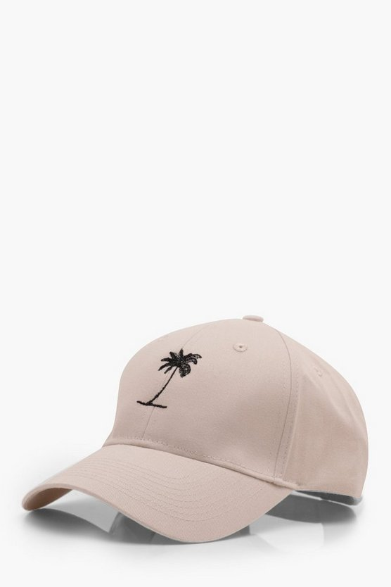 Palm Embroidered Enzyme Washed Cap