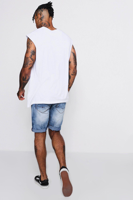 denim Shorts en largos añil skinny azul rwqpT8qxB4