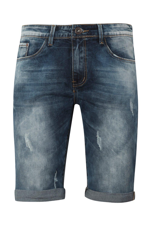 Shorts skinny denim en largos azul medio RpCxRFqwO