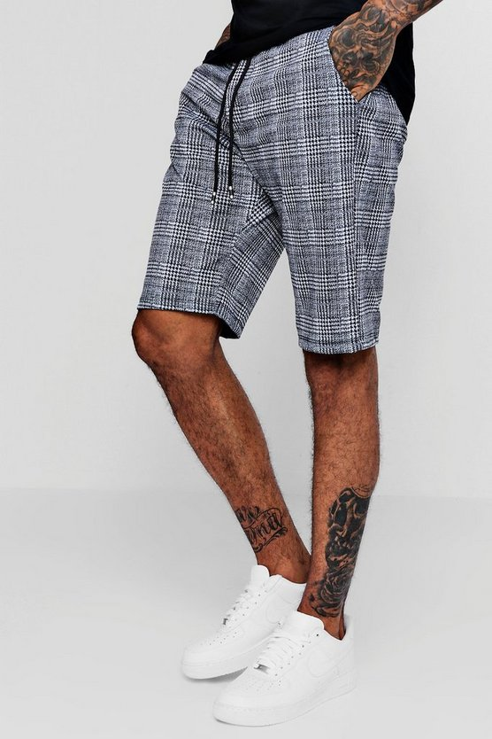 Checked Smart Jogger Shorts