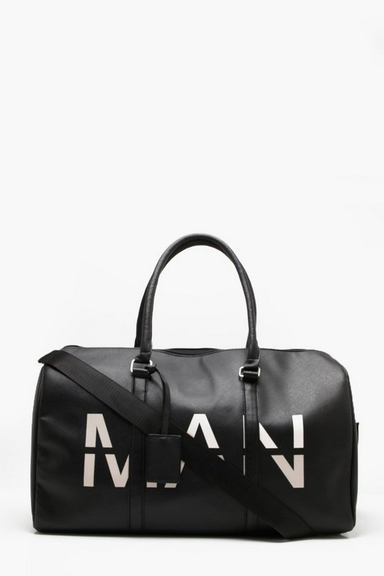 MAN Printed Saffiano Faux Leather Holdall