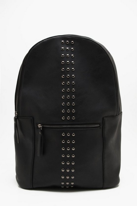 Faux Leather Studded Rucksack