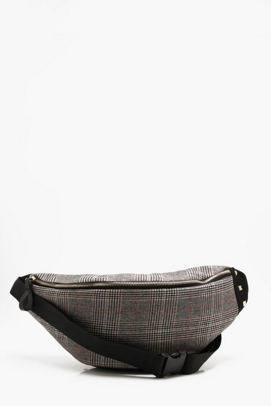 Wool Check Bumbag
