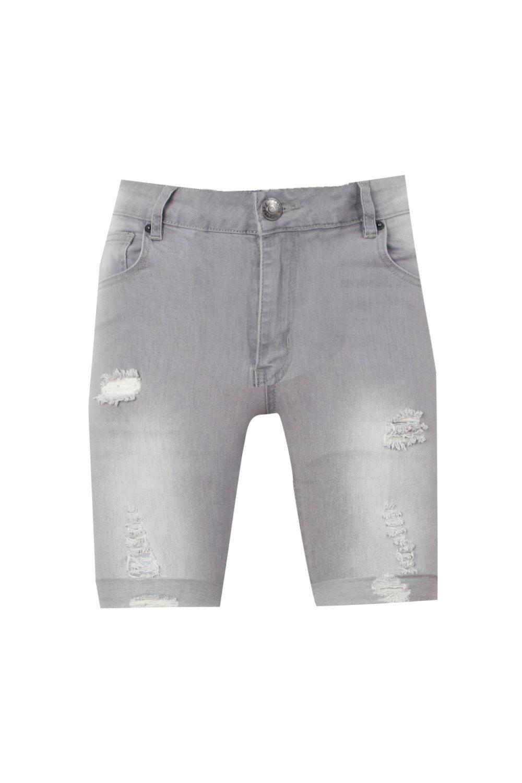 gris gris rocíados rasgaduras demin en nbsp;Short con n0wYqaCHq