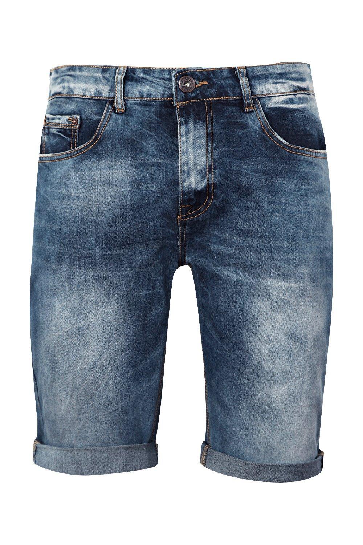 en azul desgastado azul denim medio medio nbsp;Jeans entallados FP5qnax
