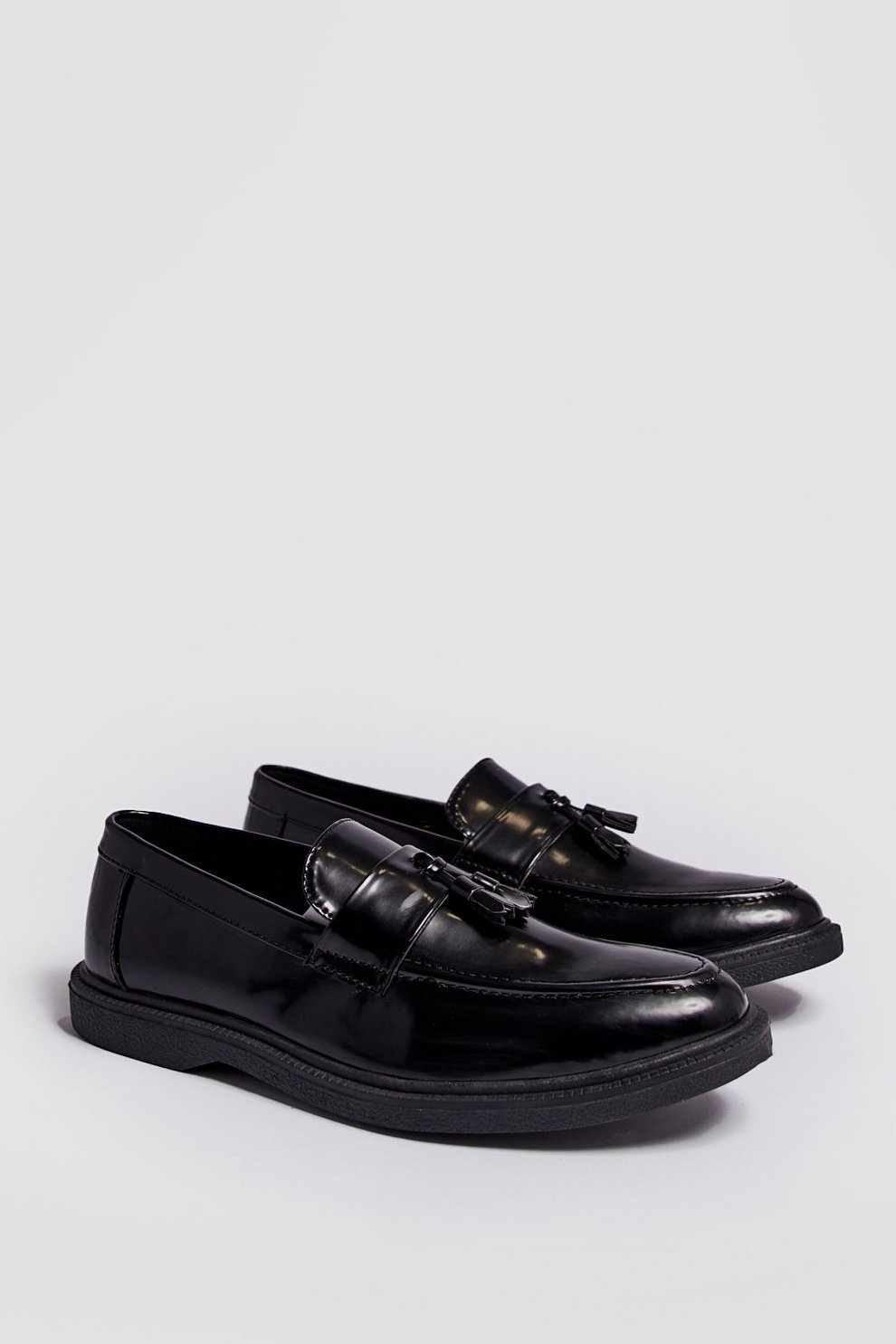 4f0b81b8234 Faux Leather Heavy Soled Tassel Loafer