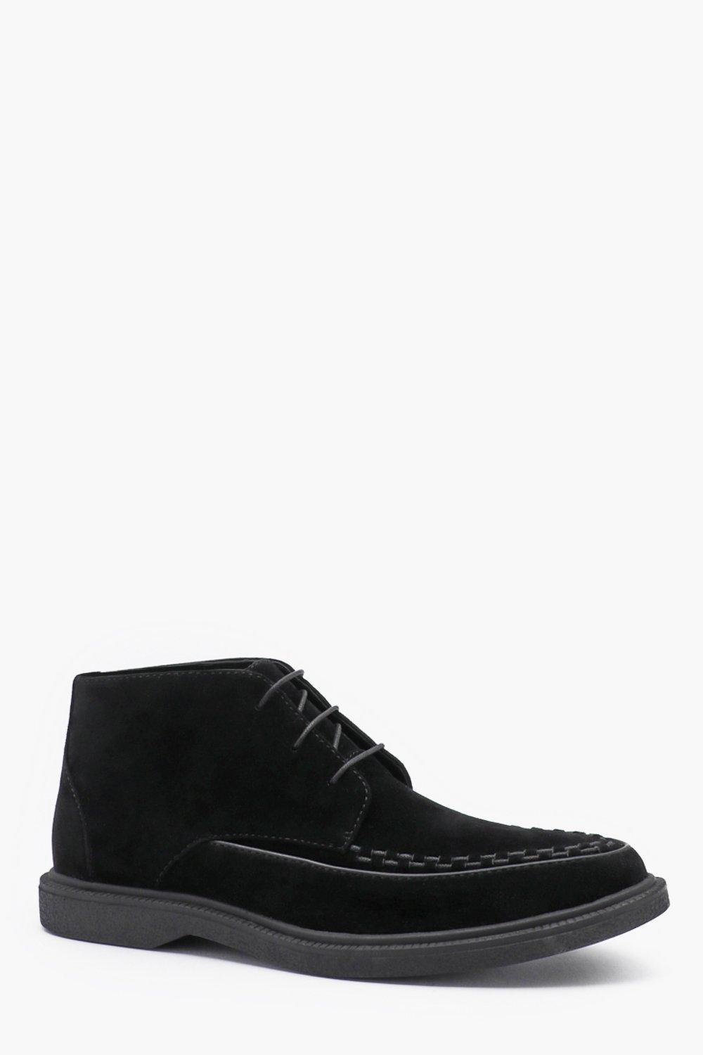 Faux Suede Lace Up Chukka Boot