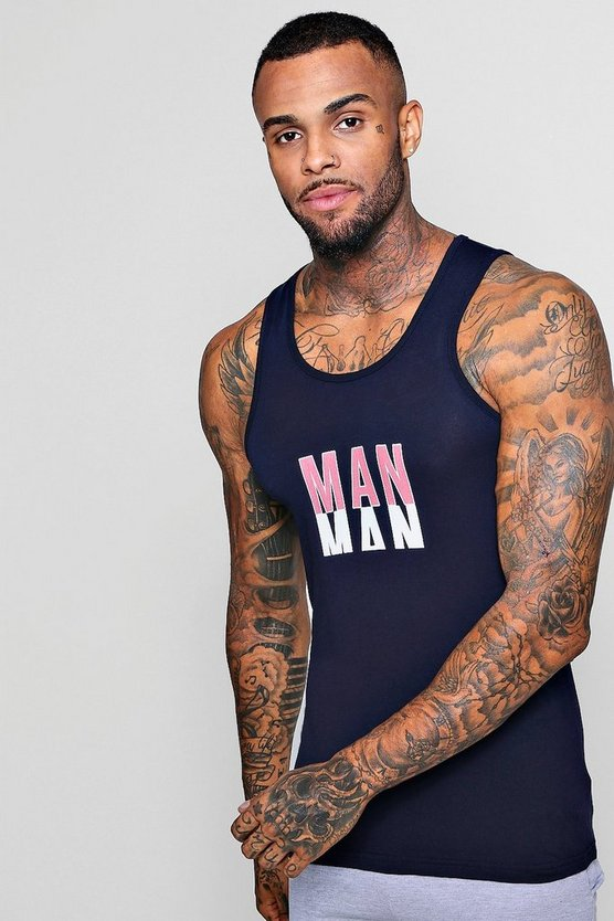 MAN Print Muscle Fit Vest