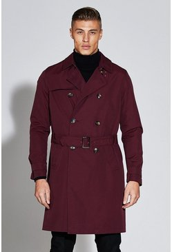 Mens Berry Premium Double Breasted Mac