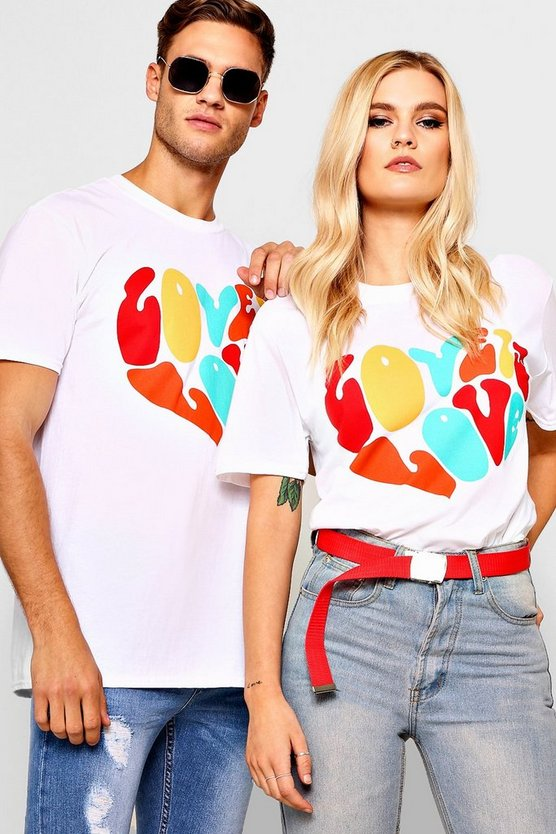 Pride Loose Fit Love Is Love Heart T-Shirt