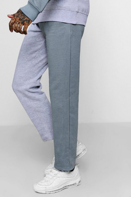 Colour Block Jersey Slim Fleece Joggers
