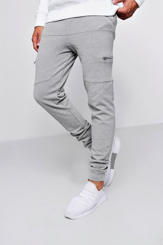 Pique Jogger With Zip Detail