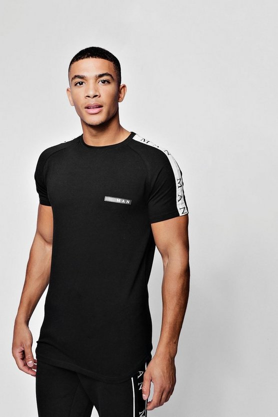 MAN Sport Muscle Fit T-Shirt With Sleeve Tape