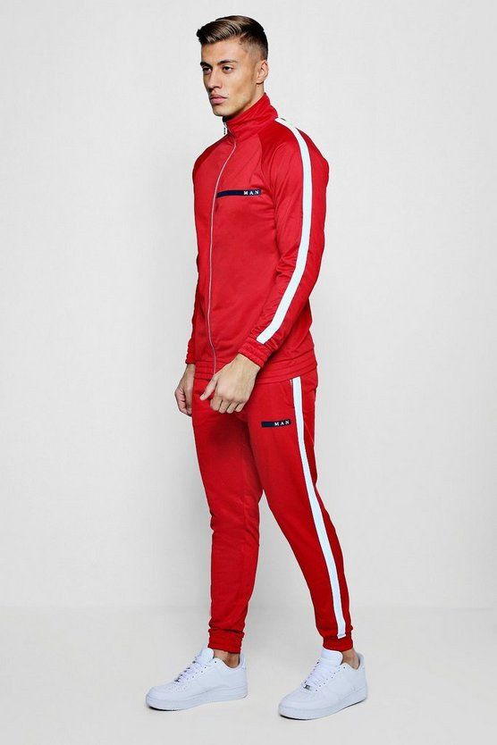 MAN Sport Tricot Tracksuit With Piping