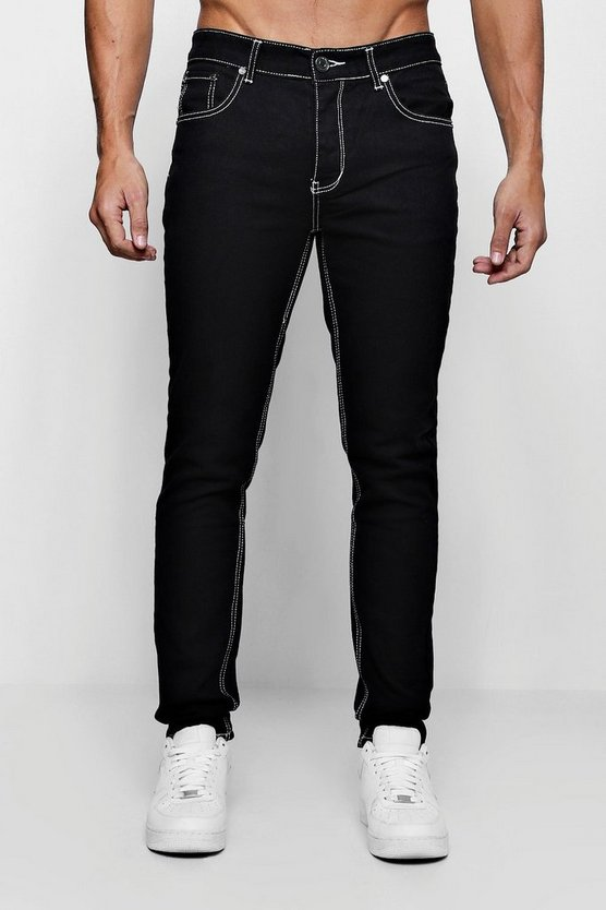 Skinny Fit Jeans With Contrast Stitch