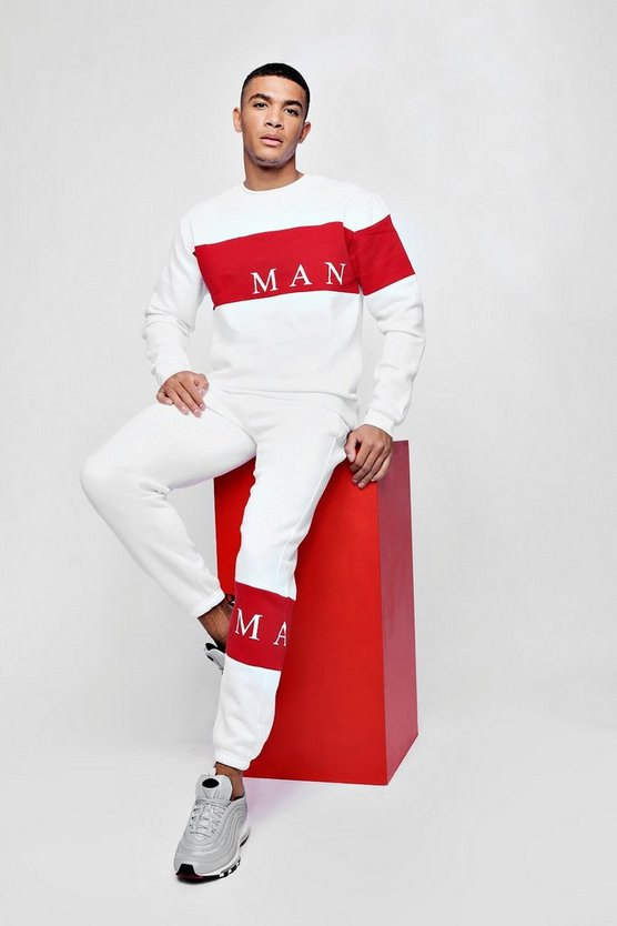 MAN Sport Contrast Panel 90s Tracksuit
