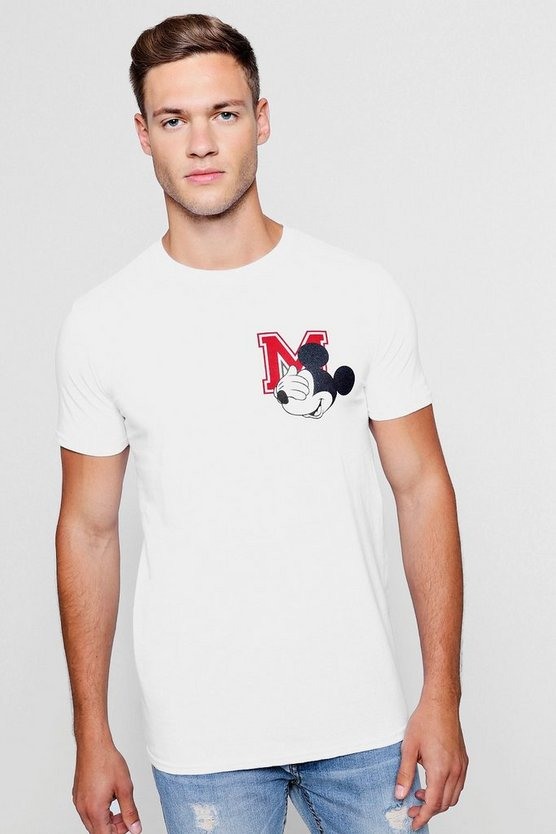 Disney Mickey Emblem Crew Neck T-Shirt
