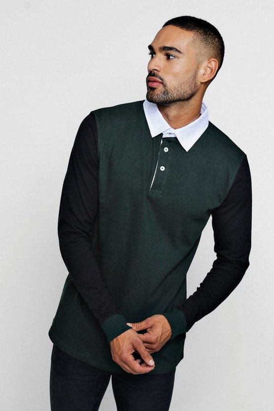 Colour Block Rugby Polo