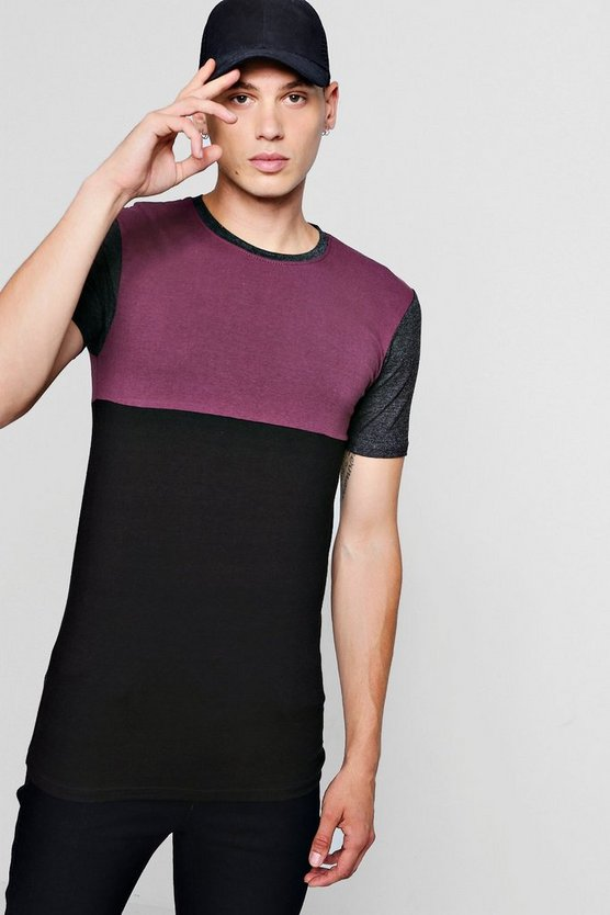 Colour Block Muscle Fit T-Shirt