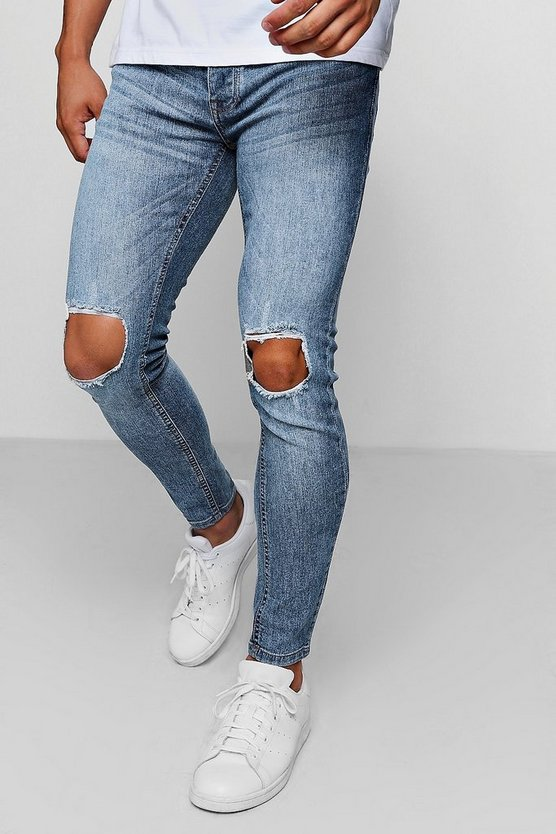 Super Skinny Jeans With Ripped Knees