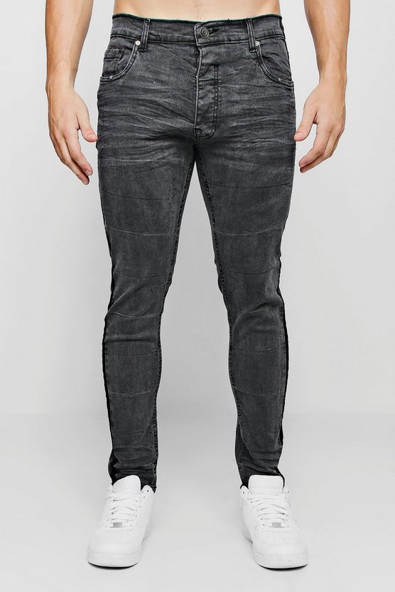 Super Skinny Jeans With Washed Side Seam