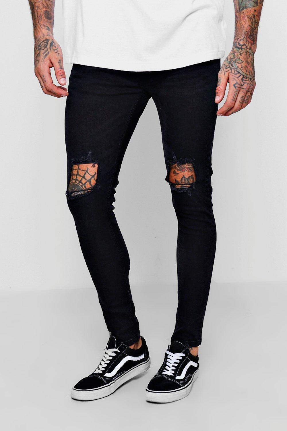 Knees Jeans washed black Fit Skinny Ripped With FgxvwnICq