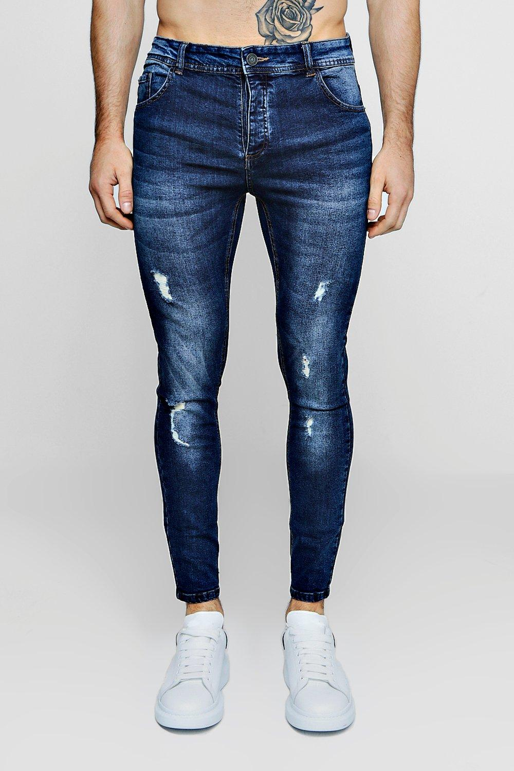 Fit Skinny blue mid With Light Distressing Jeans 1ddqU