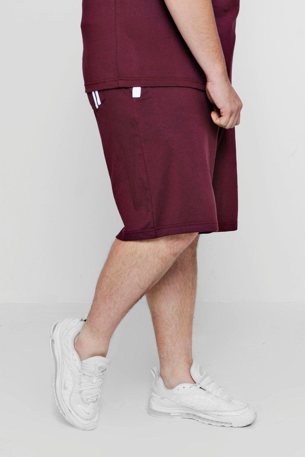Shorts Big And Detail Tall Stripe wine nORxCOZ