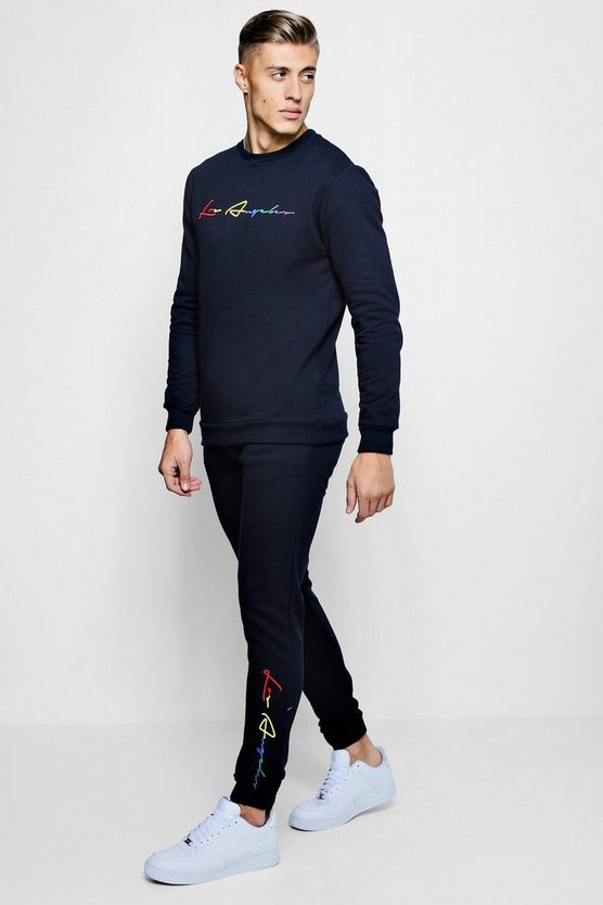 Los Angeles Embroidered Sweater Tracksuit