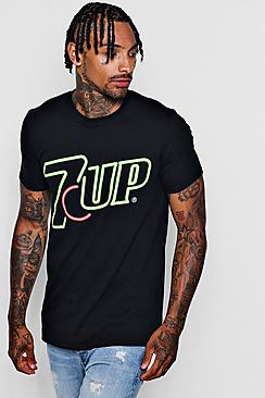 7up Neon Logo Mens T-Shirt