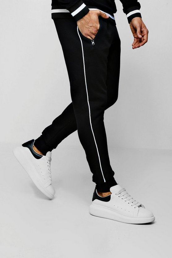 Fleece Jogger With Side Piping