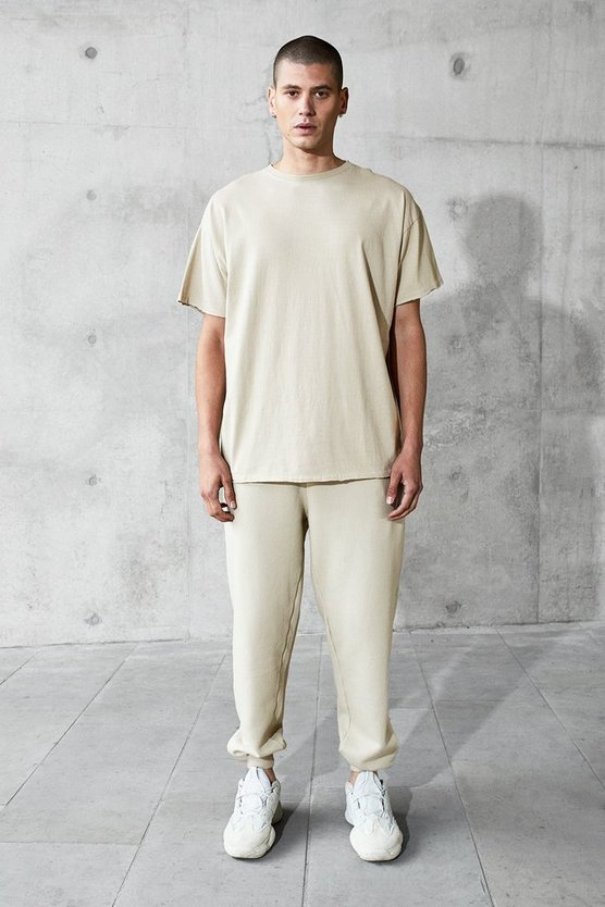 Heavyweight Drop Shoulder Tee & Jogger, Grey, МУЖСКОЕ