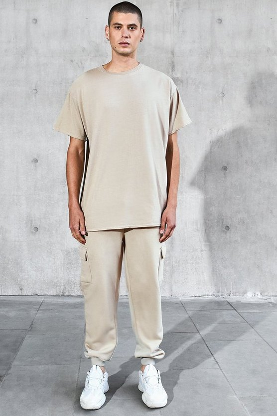 Oversized T-Shirt & Cargo Jogger Set