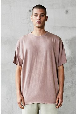 Mens Bark Oversized Heavyweight Raw T-Shirt