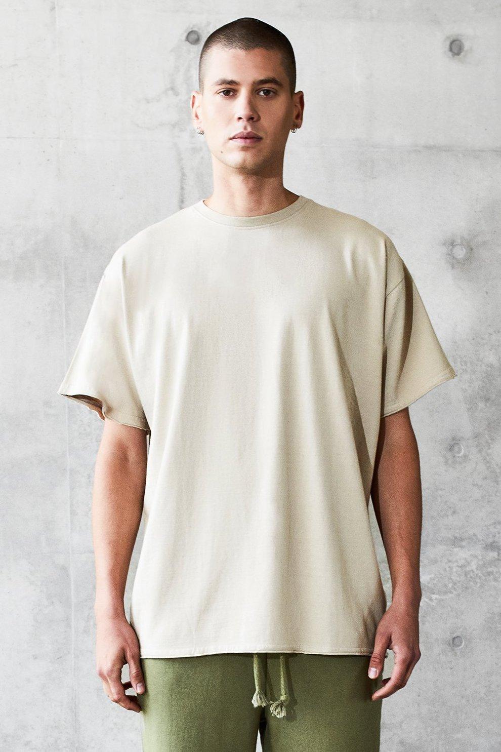 c372d4a1e967 Oversized Heavyweight Raw T-Shirt | Boohoo