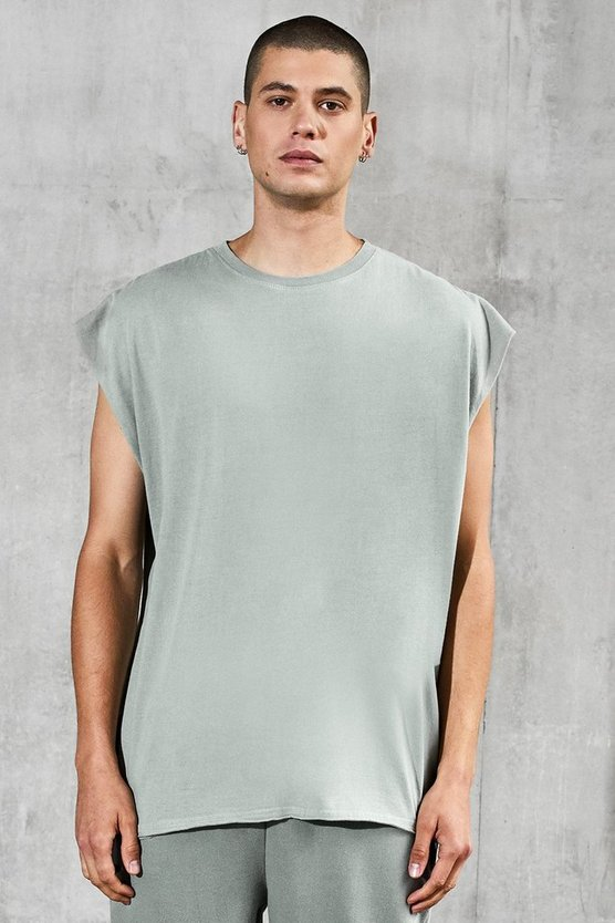 Mens Abyss green Oversized Heavyweight Tank