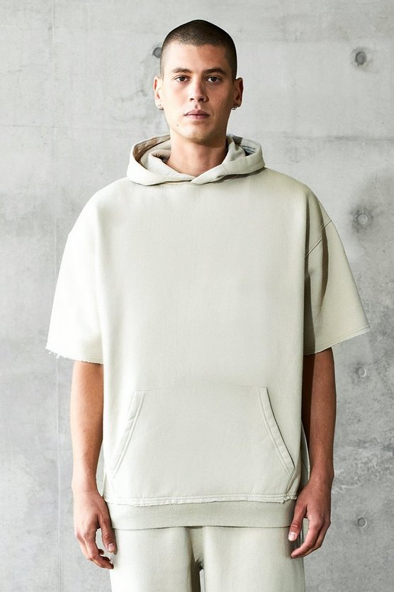 Oversized Short Sleeve Heavyweight Hoodie