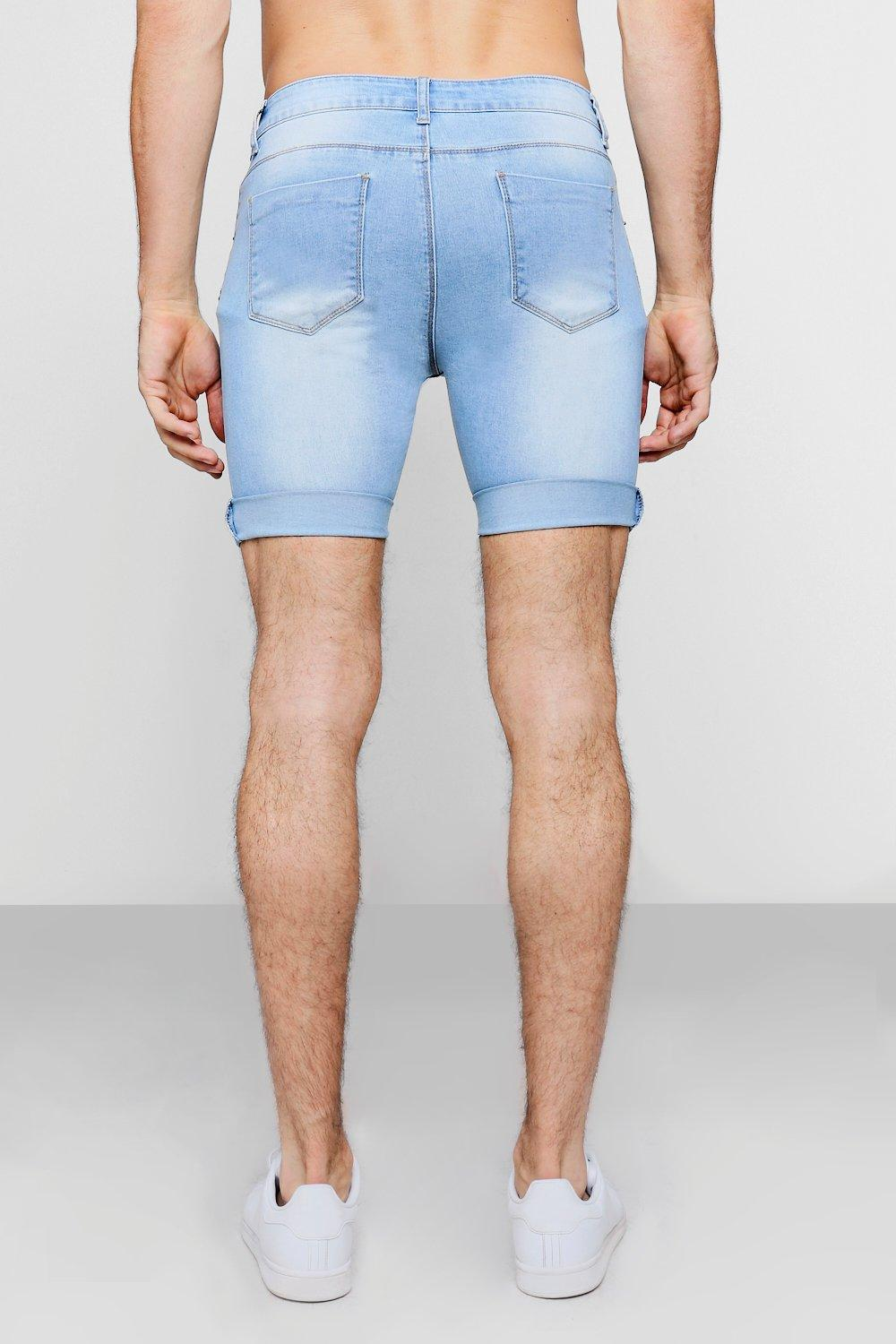 blue Blue Skinny Shorts light Light Super Denim YqvEf