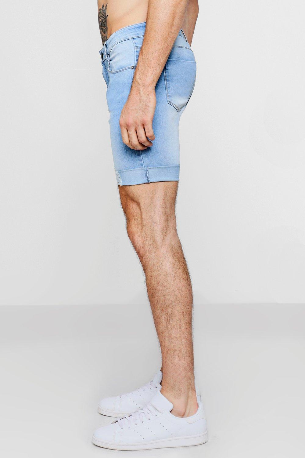 Shorts Blue light blue Skinny Denim Super Light EwqX8xInv
