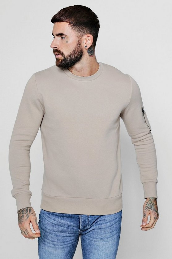 MA1 Pocket Sleeve Detail Sweater