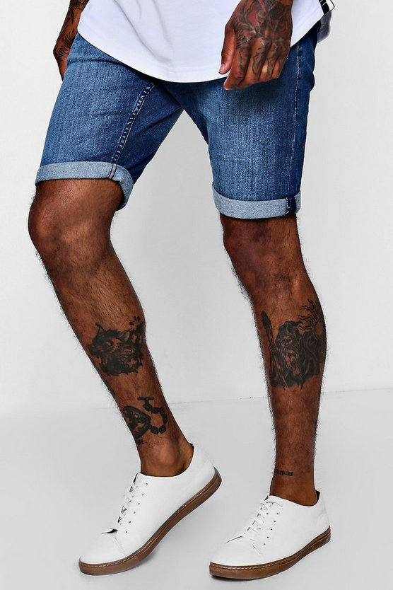 Skinny Fit Denim Shorts